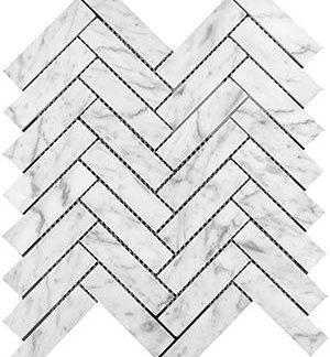 Marble Express Mosaic Carrara 25×98 Herringbone