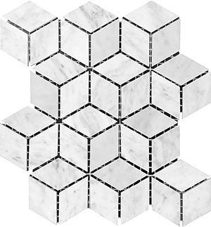 Marble Express Mosaic Carrara Diamond Cube 45×78