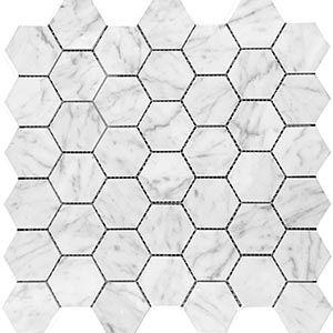 Marble Express Mosaic Carrara Hexagon 48×55